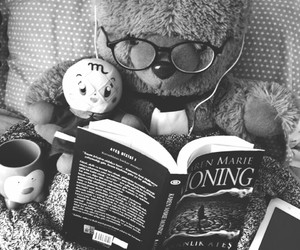 book, reading, and teddybear image