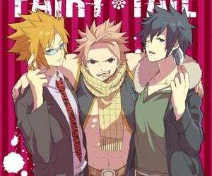 fairy tail, natsu, and gray fullbuster image