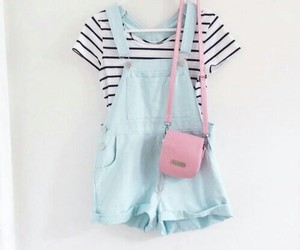 outfit, pastel, and blue image