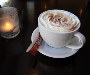 candle, coffe, and cream image