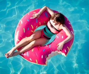 bikini, funny, and pool image