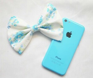 apple, blue, and iphone image
