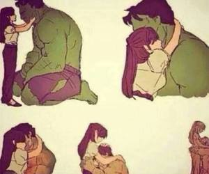 love, Hulk, and couple image