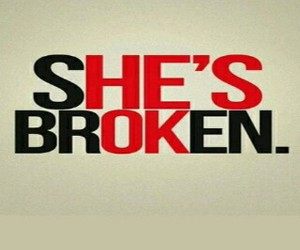 love, broken, and frases image