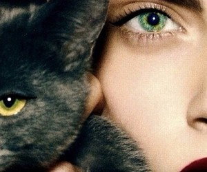 cat, cara delevingne, and eyes image