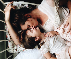 baby, girl, and mommy image