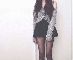 black, boho, and outfits image