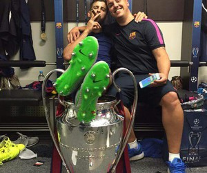 Barcelona, champions, and crazy image