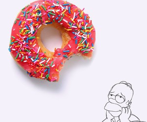 donuts, food, and homer simpson image