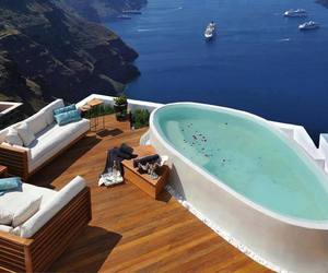 sea, luxury, and pool image