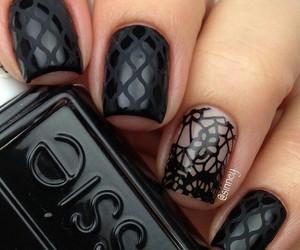 nails, black, and nail art image