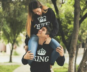 love, couple, and king image