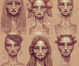 African, beautiful, and hairstyles image