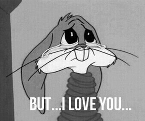 bugs bunny, cry, and sad image