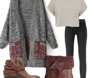 winter and outfit image