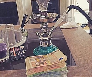 hookah, money, and real image
