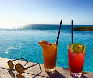 beach, drinks, and Island image