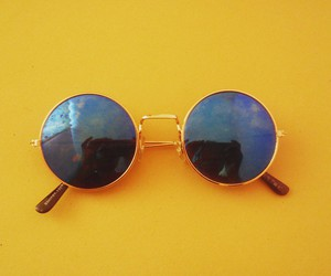 yellow, aesthetic, and sunglasses image