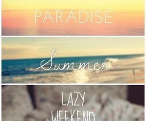 summer, paradise, and weekend image