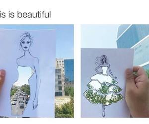 art, tree, and blue sky image