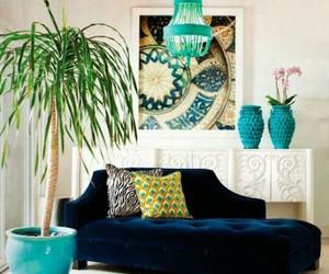 blue, decor, and decoration image
