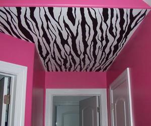 pink, room, and zebra image