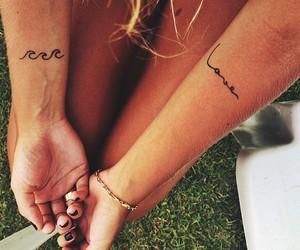 beach, tattoo, and woman image