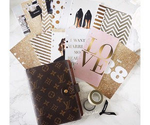 agenda, girly, and office image