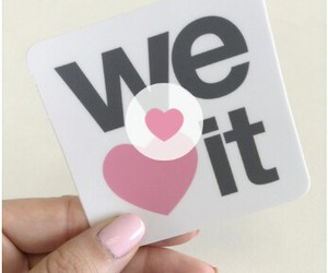 we heart it, heart, and pink image