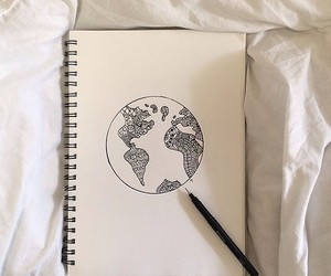 art, earth, and pencil image