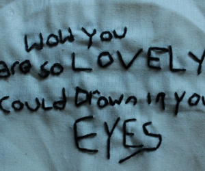quotes, eyes, and grunge image