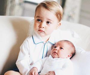 prince george, princess, and princess charlotte image