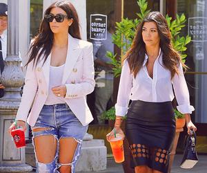 kim kardashian, kourtney kardashian, and starbucks image