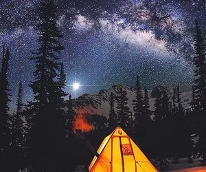 night, stars, and camping image