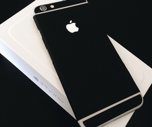 iphone, black, and apple image