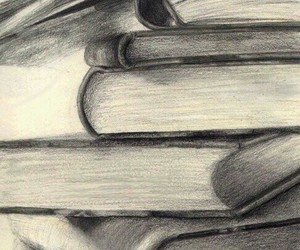 books, drawing, and art image