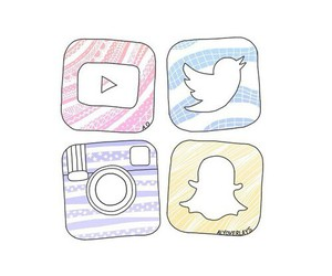 twitter, youtube, and instagram image