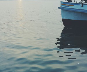boat, nature, and ocean image