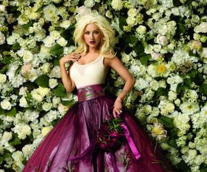 christina aguilera, xtina, and flowers image