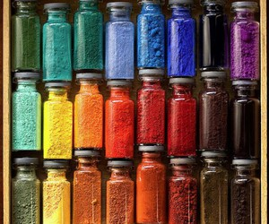 colors, pigment, and rainbow image