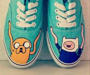 blue, finn, and shoes image
