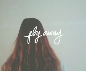 brunette, fly away, and girl image