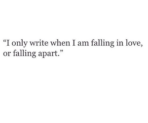 quote, falling in love, and write image