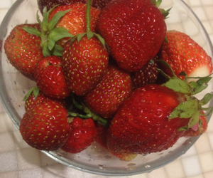 strawberry, beautiful, and food image