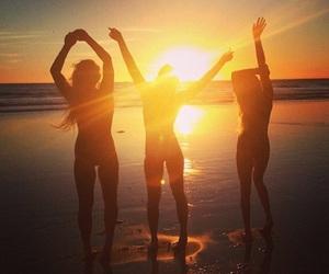 beach, summer, and besties image