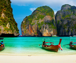 thailand, travel, and beach image