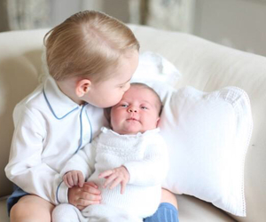 prince george, princess charlotte, and baby image