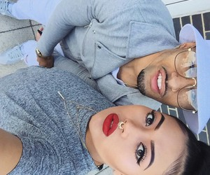 fashion, couple, and red lips image