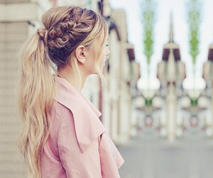 pink, pony tail, and castle image