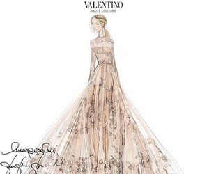 Valentino, beautiful, and dress image